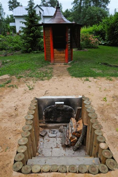 smokehouse outdoor barbeque smoke house diy backyard