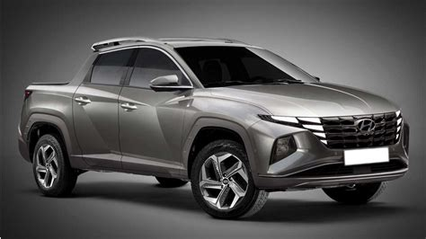 hyundai santa cruz truck rendered   tucson cues