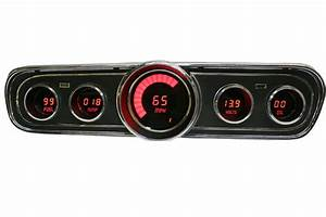 Ford Mustang Digital Dash Panel for 1965-1966 Gauges by Intellitronix Red LEDs | eBay