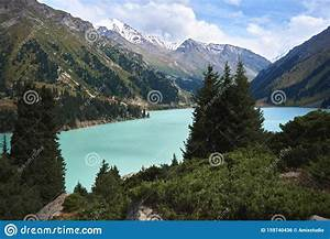 Mountain, Lake, Bao, In, Almaty, Beautiful, Nature, Summer