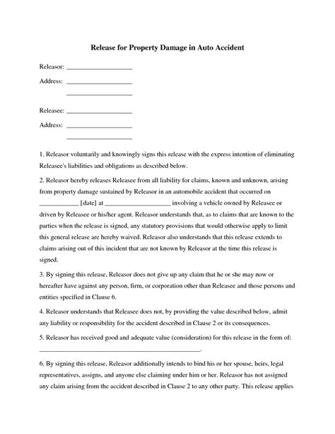 images  template settlement agreement property damage