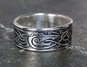 Viking Wolf Ring Sterling Silver Viking Ring Celtic