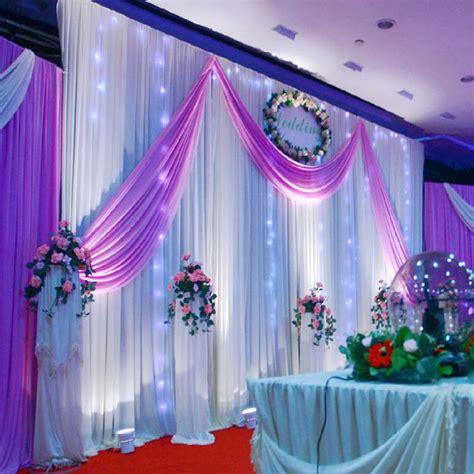 gold silk drapes aliexpress com buy wedding decoration 1 5 5m wedding