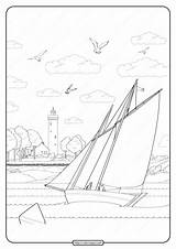 Coloring Sailboat Printable Pdf Joy Whatsapp Tweet sketch template
