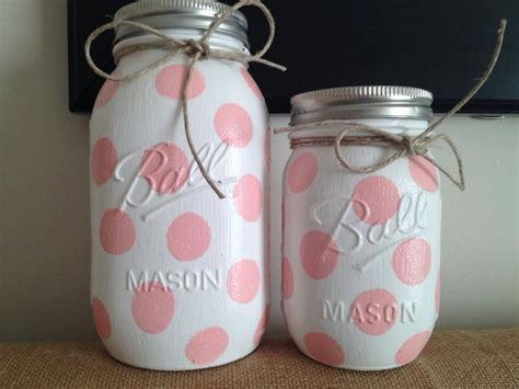 Mason Jar Baby Shower Decorations by Polka Dot Colored Mason Jars Home Decor Nursery Decor