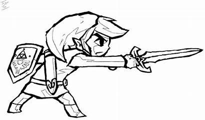 Zelda Coloring Link Legend Pages Breath Wild