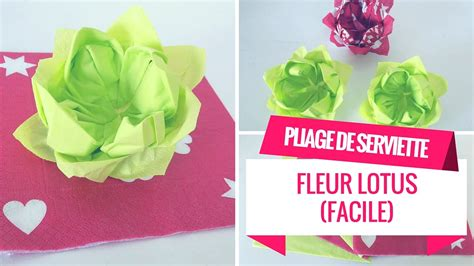 Pliage De Serviette Lotus (facile)