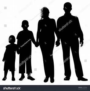 Family Silhouette Vector Stock Vector 11853946 - Shutterstock