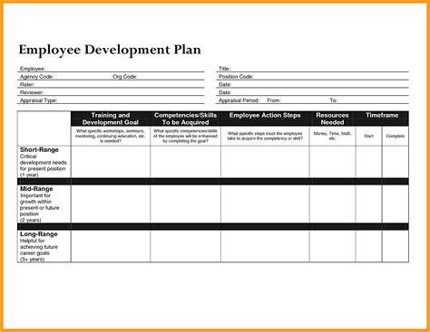 Employee Professional Development Plan Template by Career Development Plan Template Employee Marvelous