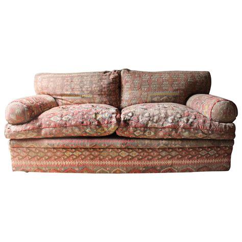 Kilim Loveseat by Quality Three Seat Kilim Upholstered Sofa By George
