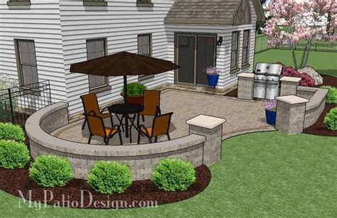 cheap backyard patio design  grill station  sq