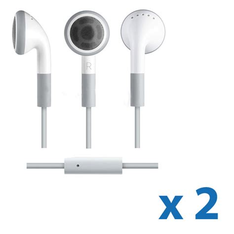 iphone 4 headphones 2 earphone headset with mic for iphone 4s 4 3gs 3g i pod
