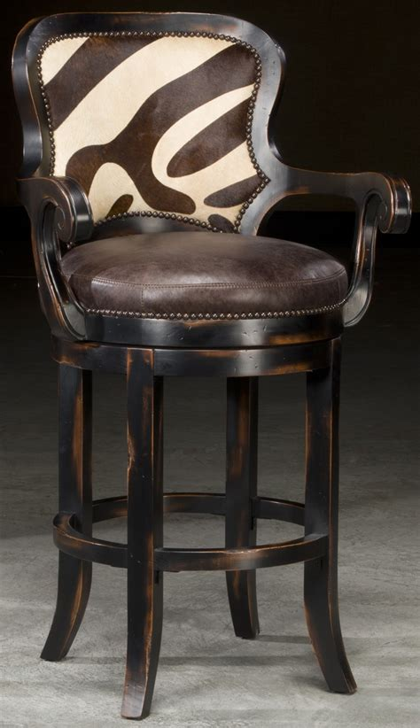 Zebra Bar Stools Zebra Hair On Hide Bar Stool Will Look Great In Your