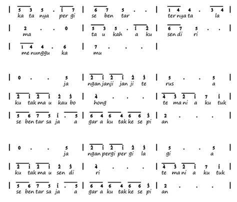 not angka lagu armada not angka pianika lagu kesepian vierra