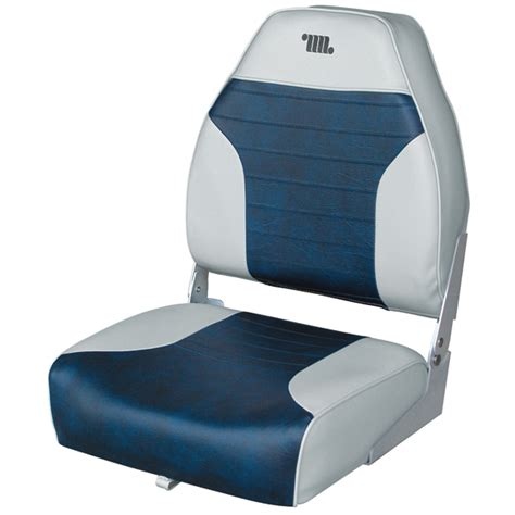 Wise Boat Seats Catalog by Wise Seating Mid Back Folding Fishing Boat Seat Gray Navy