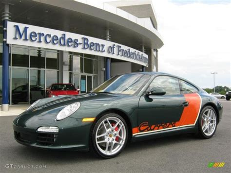 porsche racing colors 2009 porsche racing green metallic porsche 911 carrera s