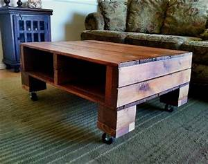 old pallet wood coffee table pallet furniture diy With coffee table with wheels and storage