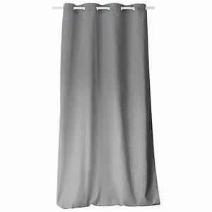 Rideau Gris Clair : rideau tamisant 140 cm x h240 etna gris clair rideau tamisant eminza ~ Teatrodelosmanantiales.com Idées de Décoration