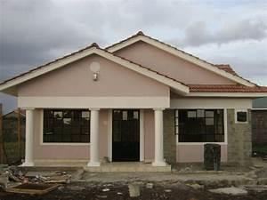 A Modernized Three Bedroomed Kenyan House Plan Modern ...