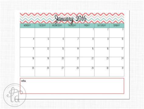 aqua coral chevron calendar printable calendar