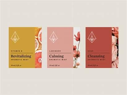 Labels Mist Essential Aromatic Oil Dribbble Mists