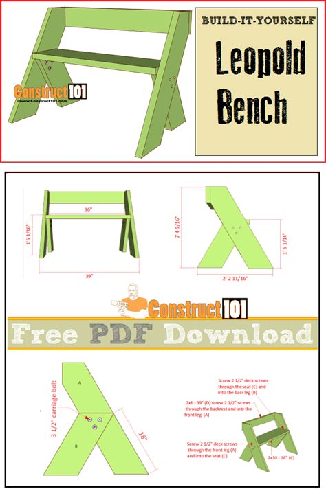 leopold bench plans     woodworking