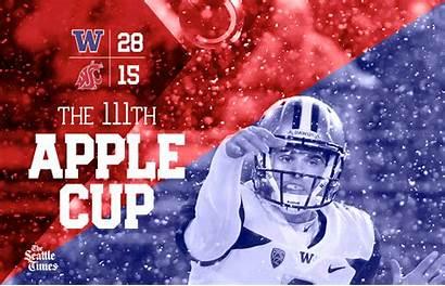 Cup Apple Cougars Huskies Wsu Uw Football
