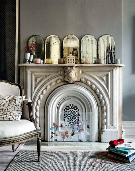 decorate  unused fireplace   living room