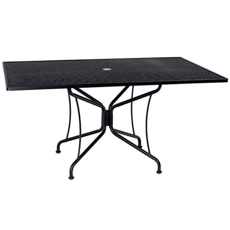 woodard 42 quot x 60 quot rectangular premium mesh top table 880317