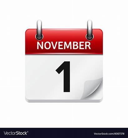 Calendar November Icon Date Daily Vector Flat