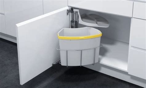 under sink garbage can track 30 unique undersink trash can ideas pictures remodel and
