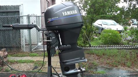 2000 yamaha 40hp tiller outboard motor low hours