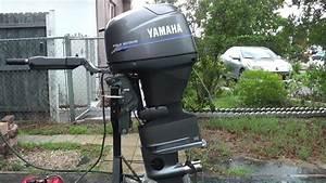 2000 Yamaha 40hp Tiller Outboard Motor Low Hours