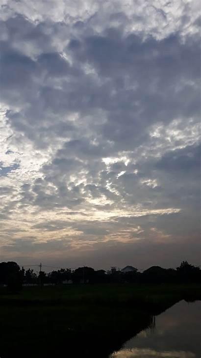Sky Langit Aesthetic Chill Mornin Mendung Gambar