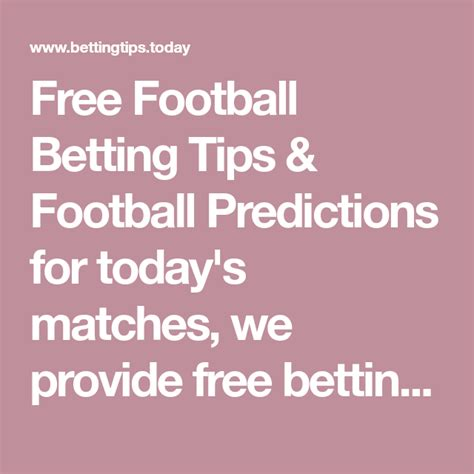 Free Football Betting Tips & Football Predictions for ...
