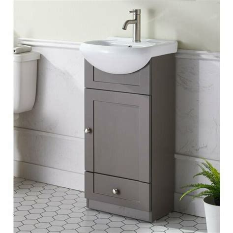 "Home > 18 inch white modern corner bathroom vanity with optional medicine cabinet. 18"" Freestanding Bathroom Vanity Wood Set Oval Ceramic ..."