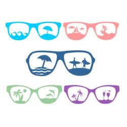 Sunglasses SVG Silhouette Beach