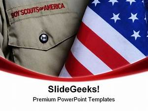 bsa uniform americana powerpoint templates and powerpoint With cub scout powerpoint template