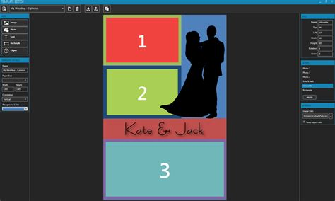template editor win v 2 6 1 7 powerful built in template editor photo booth software for dslr cameras
