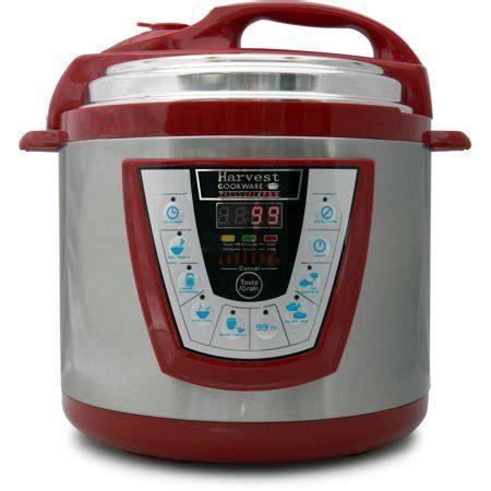 harvest cookware electric original pressure pro  quart pressure cooker red walmartcom