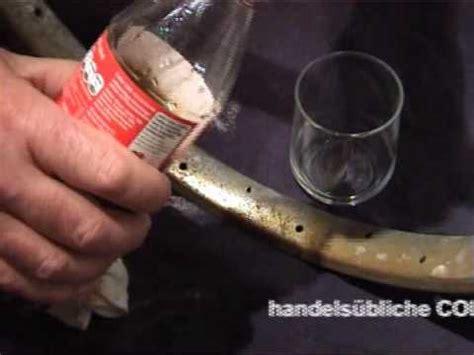 alu rost entfernen chrom rost entfernen mit cola und alu folie
