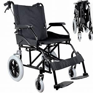 Sedia A Rotelle    Carrozzina Da Transito Pieghevole Per Disabili