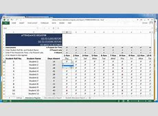 School Attendance Register and Report Excel Template v2