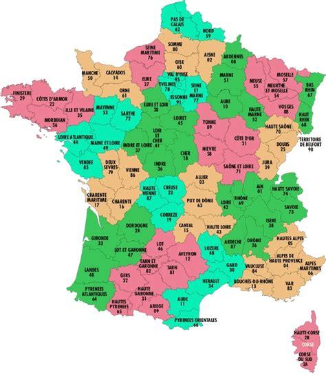 Carte De Region Et Departement Et Chef Lieu by Info Departements
