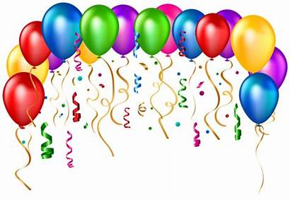 Balloons Birthday Transparent Party Clip Clipart Happy