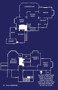 The Charmed House Floorplan  This Was My Dream House When I Was A Little Girl  In 2019