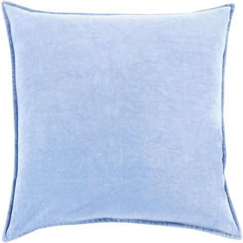 light blue lumbar pillow cotton velvet light light blue down cotton lumbar pillow