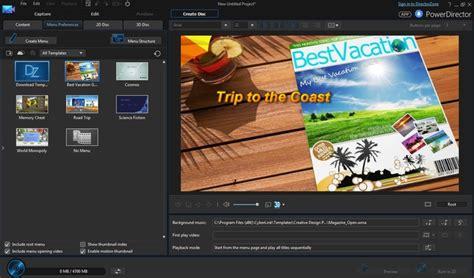 powerdirector dvd menu templates cyberlink powerdirector