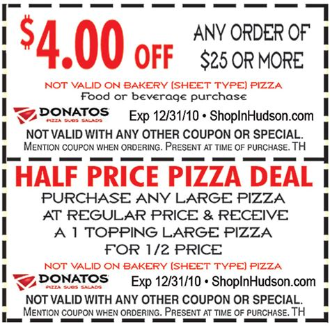 60025 Donatos Coupons For Today by Hometown Resource Guide For Local Events Savings More