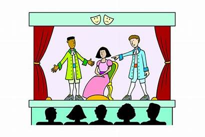 Theatre Clipart Invitation Tickets Play Drawing Stage